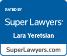 Rated by Super Lawyers Lara Yeretsian SuperLawyers.com